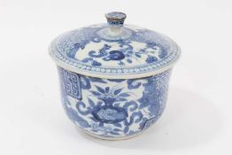 19th century Chinese blue and white covered bowl