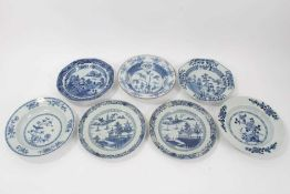 Seven 18th century Chinese export dishes