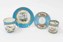 Sevres bleu celeste tea wares