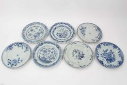 Seven 18th century Chinese export plates