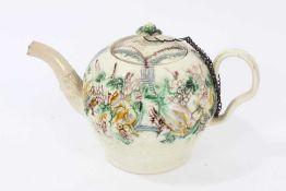 18th century creamware teapot by William Greatbatch
