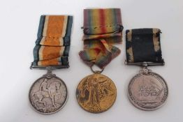 First World War Trio comprising War and Victory medals named to 200379. W. J. Waters. A.B. R.N. tog