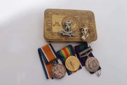 First World War pair comprising War and Victory medals named to 200572 PTE. G.V. Fermor. R.W. Kent.