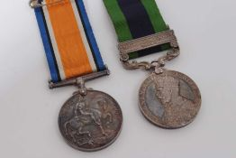 First World War War medal named to 3145 DVR. H.R. Tucker. R.A. together with a George V India Genera
