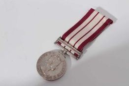 Elizabeth II Naval General Service medal with one clasp- Near East, named to C/J. 935564 B.M. Wilker