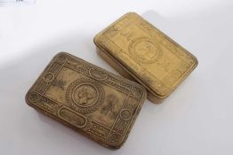Two First World War Princess Mary Gift Tins (2)