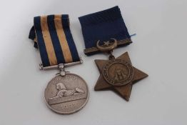 Victorian Egypt medal pair, comprising Egypt medal (1882 - 89), with dated reverse, named to 3704. G