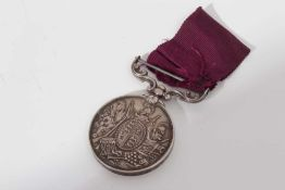Victorian Army Long Service and Good Conduct medal, named to 8406. Sergt. Farr: B. Jackson. E/4.R.A.