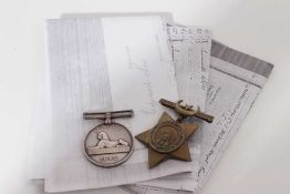Victorian Egypt medal pair, comprising Egypt medal (1882 - 89), with dated reverse, named to E.Lee.