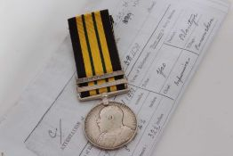 Edwardian Africa General Service medal with two clasps- Somaliland 1902 - 04 and Jidballi, named to