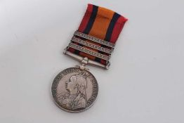 Queen's South Africa medal with three clasps- Cape Colony, Transvaal and Wittebergen, named to 5229