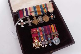 Fine miniature medals of Lt. Col. Guy Blewitt and Gen. W. E. Blewitt, full sized medals sold by thes
