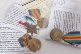 Group of four First World War medals comprising 1914 -15 Star named to 277446. G. Ireland. STO. 1..