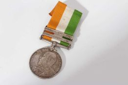King's South Africa medal with two clasps- South Africa 1901 and South Africa 1902, named to 5162 Pt