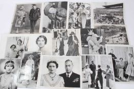 T.M. King George VI and Queen Elizabeth , collection of Royal press photographs mostly from Canada 1