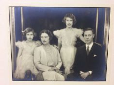 T.M. King George VI and Queen Elizabeth with their daughters , Princess Elizabeth and Princess Marga