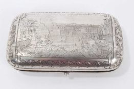 Imperial Russian silver cigar case