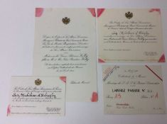 The Marriage of Prince Rainier III of Monaco to Grace Kelly 19th April 1956- a rare group of ephemer