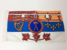 H.R.H. Prince Andrew Duke of York , rare Canadian Royal Visit car pennant , printed in colours with