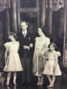 T.M. King George VI and Queen Elizabeth and their two daughters -Princess Elizabeth and Princess Mar
