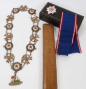 The Most Noble Order of The Garter- Victorian brass theatrical collar , a theatrical Garter star , E