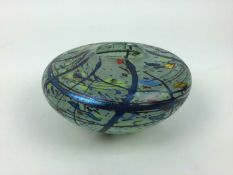 Art glass vase, signed and dated to base