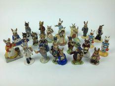 Twenty-four Bunnykins figures