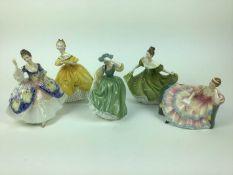 Five Royal Doulton figures - Christine HN2792, The Last Waltz HN2315, Buttercup HN2309, Pauline HN24