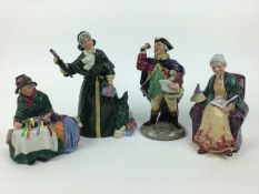 Four Royal Doulton figures - Silks and Ribbons HN2017, Christmas Parcels HN2851, Prized Possessions