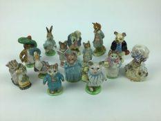 Fourteen Beswick Beatrix Potter figures