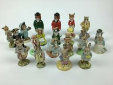 Eight modern Beswick Beatrix Potter figures, Three Royal Albert Beatrix Potter figures and a selecti