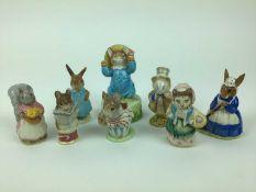 Eight Beswick Beatrix Potter figures including Goody Tiptoes