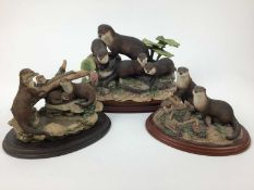 Quantity of Boder fine arts figures, mostly Otters