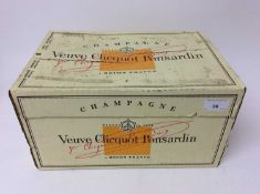 Champagne - six bottles, Veuve Clicquot Brut 1996, in card case