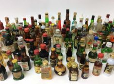 Collection of one hundred and five alcoholic miniatures to include, liqueurs, gin, vodka and others