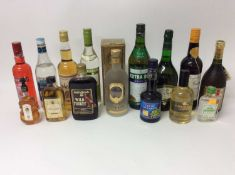 Fifteen assorted bottles to include: Vodka, Sherry, Liqueurs and others