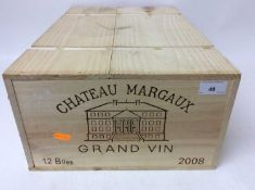 Twelve bottles, Chateau Margaux, 1er Cru 2008