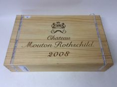 Six bottles, Chateau Mouton-Rothschild, 1er Cru Pauillac 2008