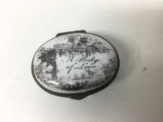 A South Staffordshire enamel patch box 'A Pledge of Love' circa 1810-20