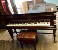 Early 20th century boudoir grand piano by John Strohmenger & Sons, London, numbered 17520, together