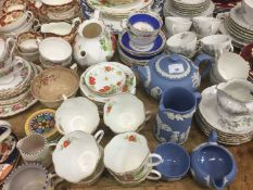 Group of ceramics to include teaware, Wedgwood, Poole and other ceramics