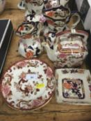 Collection of Mason's Ironstone pottery items