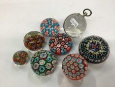 Group of seven paperweights