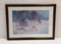 Modern Mahogany Framed Print Dimensions Including Frame : 91cm x 68cm