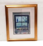 Oil Painting 'Cote Bottom Window Sill Bishopdale ' by Nicholas Barnham 1939 Dimensions Including
