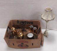 Misc Lot , Royal Worcester Tea Service , Brass Candlestick,