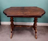 19C Walnut Centre Table Dimensions: 102cm W 67cm D 72cm H