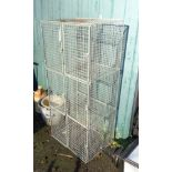 A six section wire mesh locker