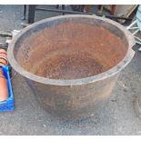 An old cast iron boiler