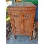 An old HMV gramophone cabinet
